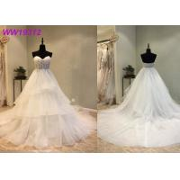 Quality Ivory Floor Length Mermaid Style Wedding Dress For Women And Bridal Prom Party for sale