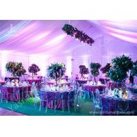 Quality Decoration Outdoor Aluminum Wedding Reception Tents Colorful Lighting / Lining for sale