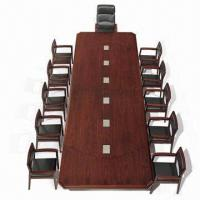 Quality Wooden Conference Table, made of spray-painted wood veneer and MDF for sale