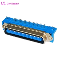 Quality Male 14 24 36 50 Pin Centronics Connector PCB Right Angle for sale