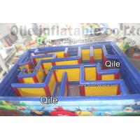 China QiLe Funny Inflatable Sports Games Laser Tag Air Inflatable Maze Durable on sale