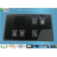 Quality Gray Window Square Pillow  Embossing Membrane Switch Overlay With 3M 467 Backadhesive for sale