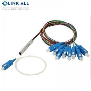 Quality 1X8 Passive Fiber Optic  Blockless  PLC Splitter with SC/APC, UPC Connector for sale