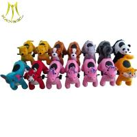 China Hansel chilldren pedal car walking motorized plush riding animals for child on sale