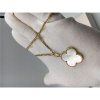 Quality Long Yellow 18K Gold Necklace Elegant White Mother Of Pearl For Ladies for sale