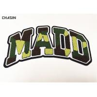 China Camouflage Style Words Chenille Patches Chenille Patches For Varsity Jackets on sale