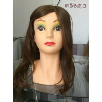 Quality mannequin head with 100% human hair;practice head; wig acceqqories for sale
