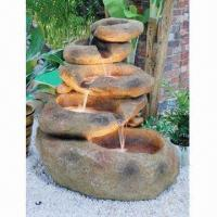 China Polyresin Water Fountain With LED Lights, Imitation Stone Like, Direct Electricity on sale