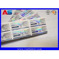 Quality Customized Anabolic Steroid Bottle Labels  , Glass Vial 3D Hologram Stickers 10ml for sale