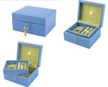 Buy jewelry packing box skin leather jewelry box leather storage box at wholesale prices