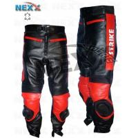 China Motorbike Textile Garments Lucky Strike Red Black Motorbike Leather Trouser on sale