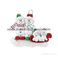 China Ornament Snowman Sled-Resin Christmas Gifts on sale