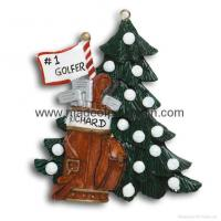China Golfer Tree-Resin Christmas Gifts on sale