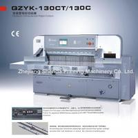 Quality Hydraulic Computerized Paper Cutter (QZYK-130CT/130C) for sale
