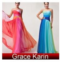 China Latest design Long Chiffon prom ball gown dresses CL6069 on sale