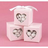 Quality Pink Heart Window Favor Boxes for sale