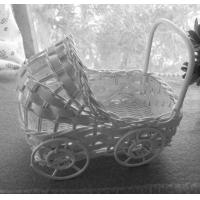 Small Wicker Baby Buggy