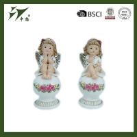 China best selling indoor Christmas decoration polyresin girl angel figurine on sale