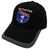 Buy cheap USA1 Industries Black Hat with Grey Brim with USA1 Color Log from wholesalers