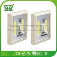 Quality Promotion Magnetic Velcro Plastic 6W COB LED Wall Switch Light with CE RoHS BSCI for sale