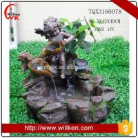 China Animal Statues Factory price polyresin angel baby garden water fountain on sale