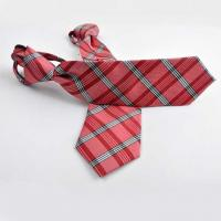 Quality Tie Polyester Jacquard Zipper Tie for sale
