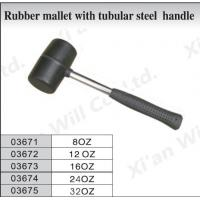 Rubber mallet with tubular steel handle 03671
