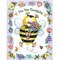 "Quality Bee Stationery & Desk Supplies ""You Bee Thoughtful"" Petite Bee Thank You Card for sale"