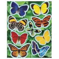 Quality Realistic Glitter Butterfly Stickers (36) for sale