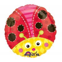 Quality Cute Ladybug Round Foil Balloon for sale