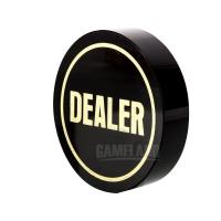 Buy cheap Deluxe Jumbo Black Crystal Dealer Button from wholesalers