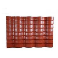 China PVC Resin double roman roof tiles Corrugated Roofing Sheets 40mm Wave Height on sale