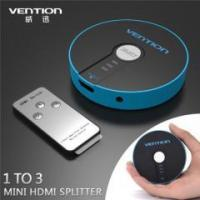 China hot sale 1 to 4 port blue round HDMI splitter HDMI distributor with remote on sale