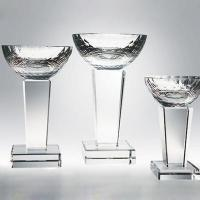 Quality Crystal Candelabra Glass Trophies for sale
