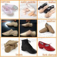 Quality Red Leather Folk Dancing Shoes for sale