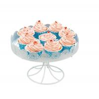 Buy cheap One Layer Metal Decorated Cake Holder With Beautiful Lace from wholesalers