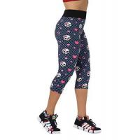 Quality Hot Sexy Women Fashion High Waist Skull Printed Workout Fitness Capri Leggings for sale