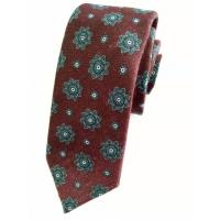 China Necktie First Red Wine Flower Patterned Men's Tie on sale