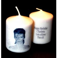 Quality Birthday Candles David Bowie Gift candle with own message for sale