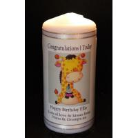 Quality Birthday Candles 1st Birthday candle Baby boy or Baby Girl for sale