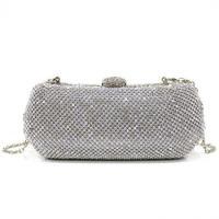 Quality Silver Crystal box Evening Purse Bags for women Handcee-KB-11 for sale