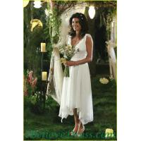 Floral Tia Mowry One Shoulder Empire Line Maternity Wedding Bridal Gowns Elegant Patterns
