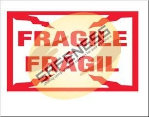 Buy Bilingual Fragile Package Handling Label at wholesale prices