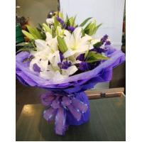 Quality Birthday 6 stem lilies with statice delivery NO.1 birthday gift to austr for sale