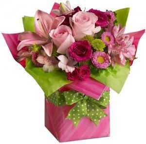Buy Birthday Pretty Pink Present delivery NO.4 birthday gift to australia syd at wholesale prices