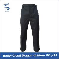 Quality Poly Twill Black Security Cargo Pants , Police Uniform Trousers For All Seasons for sale