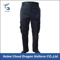 Quality Four Side Pockets Security Guard Uniform Pants With Two Sewn In Military Creases for sale