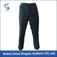 Quality Relaxed Fit Navy Poly Cotton Security Guard Pants Work Wear Trousers For Duty for sale