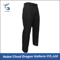 Quality Comfortable Black Men's Comfort Waist Pants For Security Guard / Police for sale