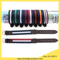 China 20mm Genuine Leather Joint Nylon Watch Band nato watch Strap suit for dw watch on sale